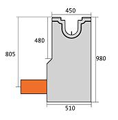 BIRCOsolid Kastenrinne Nennweite 150 Sinkkästen Liniensinkkasten mit KG-Rohrstutzen