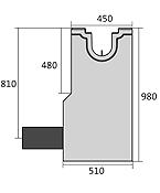 BIRCOsolid Kastenrinne Nennweite 150 Sinkkästen Liniensinkkasten mit PEHD-Rohrstutzen