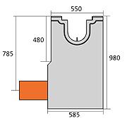 BIRCOsolid Kastenrinne Nennweite 200 Sinkkästen Liniensinkkasten mit KG-Rohrstutzen