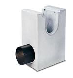 BIRCOsolid Kastenrinne Nennweite 300 Sinkkästen Liniensinkkasten mit PEHD Rohrstutzen für Bauhöhe 660/830. mit einbetonierter