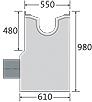 BIRCOsolid Kastenrinne Nennweite 200 Sinkkästen Absperrsinkkasten NW 400 für Rinnen NW 200. mit einbetonierter