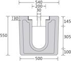 BIRCOsolid Schlitzrinne Profil 200/300 Rinnen Schlitzrinnen ohne Innengefälle Profil 200/300 - AKR-beständig