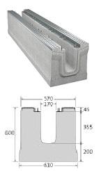 BIRCOmassiv Nennweite 150 Rinnen Rinnenelemente I ohne Innengefälle I mit einteiligem feuerverzinktem Oberflächenschutz