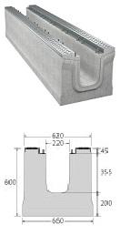 BIRCOmassiv Nennweite 200 Rinnen Rinnenelemente I ohne Innengefälle I mit einteiligem feuerverzinkten Oberflächenschutz