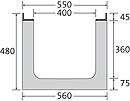 BIRCOsir Nennweite 400 Rinnen Rinnen ohne Innengefälle