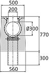 BIRCOsolid SR Pfuhler System Z Typ K DN 300 Rinnen Schlitzrinnen mit Ablauf senkrecht ohne Innengefälle Klasse D 400. feuerverzinkte Combi-Verschluss-Massivstahlzarge