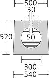 BIRCOsolid SR Pfuhler System Z Typ K DN 300 Rinnen Schlitzrinnen mit 0.5% Innengefälle Klasse F 900. feuerverzinkte Combi-VerschlussMassivstahlzarge