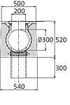 BIRCOsolid SR Pfuhler System Z Typ K DN 300 Rinnen Schlitzrinnen mit Ablauf senkrecht ohne Innengefälle Klasse F 900. feuerverzinkte Combi-Verschluss-Massivstahlzarge