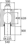 BIRCOsolid SR Pfuhler System Z Typ K Profil 300/400 Rinnen Schlitzrinnen mit Ablauf senkrecht ohne Innengefälle