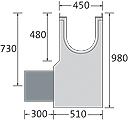 BIRCOprotect Nennweite 300 Sinkkästen Liniensinkkasten mit KG-Rohrstutzen mit feuerverzinkter Combi-Verschluss-Massivstahlzarge