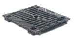 BIRCOdicht Nennweite 150 Abdeckungen Doppelsteg-Gussabdeckung für Liniensinkkasten mit Absperrvorrichtung