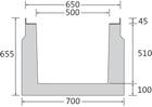 BIRCOcanal Nennweite 500 Rinnen Versorgungskanäle mit Zargen I einbetonierte Halfenprofile