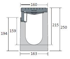 BIRCOlight Fassadenentwässerung Nennweite 100 Rinnen BIRCOlight NW100 | Fassadenrinne