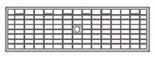 BIRCOlight Fassadenentwässerung Nennweite 100 Fassaden - Gitterrost BIRCOlight NW100 | Fassaden Gitterrost
