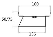 BIRCOtop Serie F ohne Sichtsteg 160 (Außenbreite) Rinnen Rinnenelemente I ohne Sichtsteg I einseitig perforiert