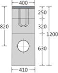 BIRCOsir Punktentwässerung ohne Nennweite Sinkkästen Sinkkasten I 40/40 I 3-teilig