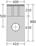 BIRCOsir Punktentwässerung ohne Nennweite Sinkkästen Sinkkasten I 40/40 I 2-teilig