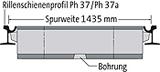 BIRCOsir Gleisentwässerung Nennweite 100 Rinnen Schienenprofil 57 R 1/67 R 1 (ehem. Ph 37/Ph 37a) I Spurweite 1435