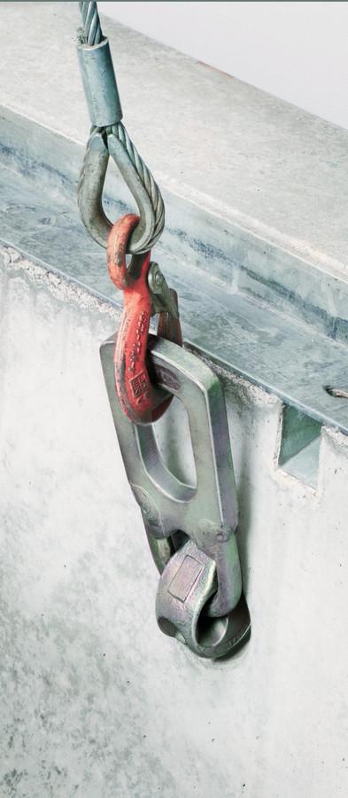 BIRCOsolid Kastenrinne Nennweite 300 Sinkkästen Verlegehilfe für Kugelkopfanker für Rinnen von Innen montierbar