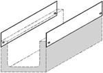 BIRCOcanal Nennweite 500 Zubehör Seitenbleche I als Rückenstütze für Stahlbetonabdeckungen bei BIRCOcanal ohne Zargen