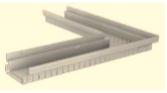 BIRCOtopline BIRCOtopline NW130 Rinnen Eckelement ohne Sichtsteg einseitig perforiert