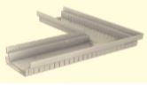 BIRCOtopline BIRCOtopline NW160 Rinnen Eckelement ohne Sichtsteg einseitig perforiert
