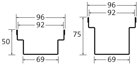 BIRCOtopline BIRCOtopline NW100 Rinnen Rinnenelement ohne Sichtsteg einseitig perforiert
