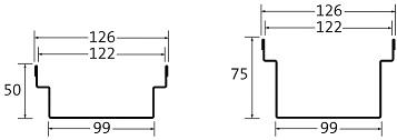 BIRCOtopline BIRCOtopline NW130 Rinnen Rinnenelement ohne Sichtsteg einseitig
