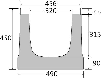 BIRCOsir – große Nennweiten Nennweite 300 Rinnen Rinnenelemente ohne Innengefälle
